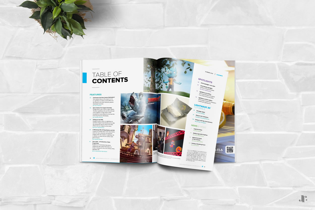 Web design - LightWave 3D Landing Pages